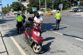 Beşiktaş'ta motosikletlilere yönelik denetim