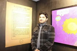 Pastel Adam resim sergisi La Visione Art Gallery'de