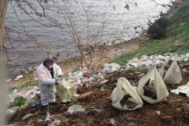 İBB, Adalar'da 25 ton çöp topladı