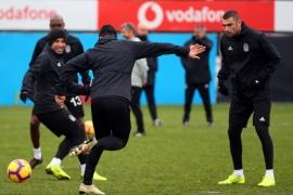 Beşiktaş'ta maç hazırlıkları sürüyor