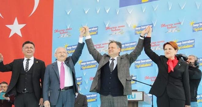 Kılıçdaroğlu ve Akşener'den Kocaeli mitingi
