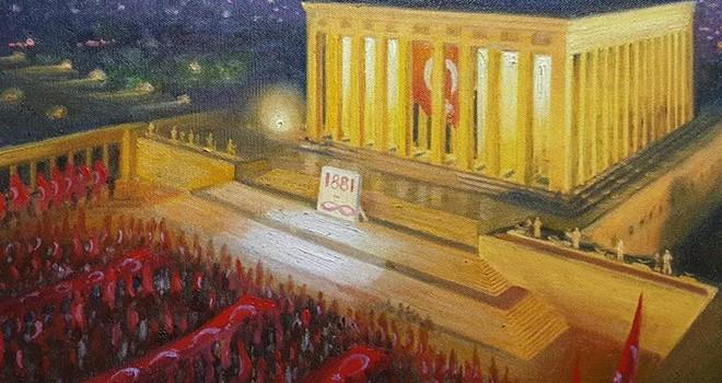 Ressam Nihat Evren Derman'ın tablolarına büyük beğeni