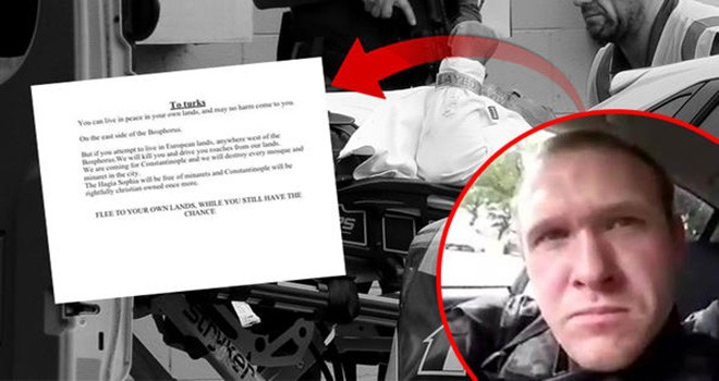 Yeni Zelanda teröristi Türkiye'yi de tehdit etti