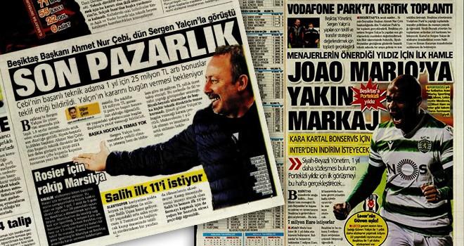 Beşiktaş'taki son gelişmeler manşetlerde