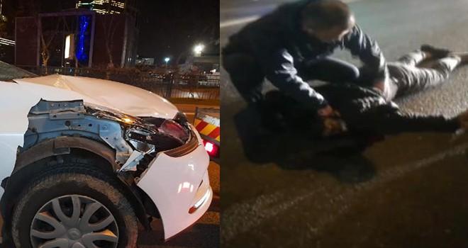 Yolun karşısına geçerken otomobil çarptı