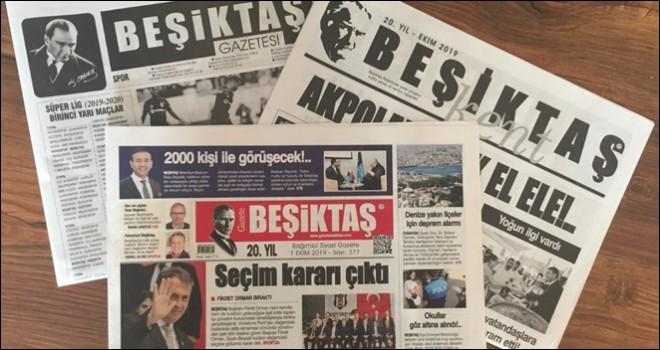 Gazete Beşiktaş'ı her ayın birinde internetten okuyabilirsiniz