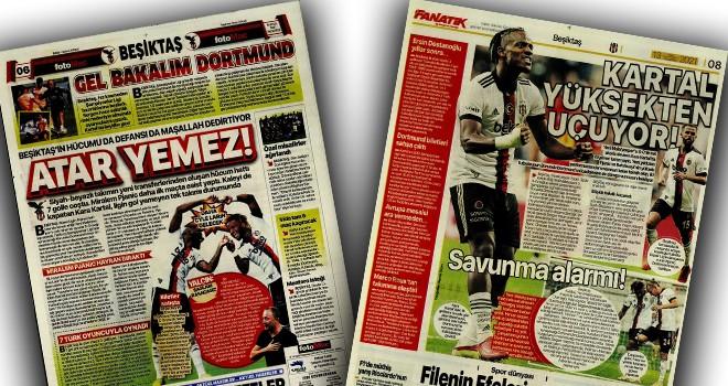 Beşiktaş Manşetleri (13 Eylül)