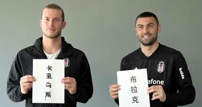 Beşiktaş, Çin'in yeni yılını kutladı