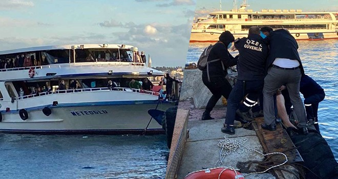 Beşiktaş İskelesi'nde hareketli dakikalar! Denize atlayan şahıs zor kurtarıldı