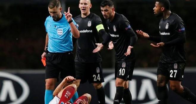 Beşiktaş - Braga maçında hakem skandalı