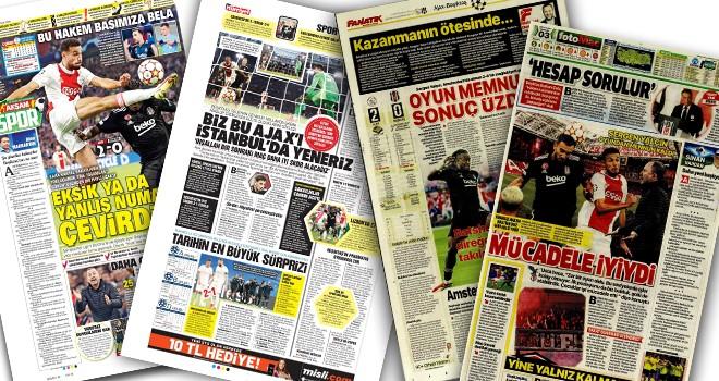 Ajax - Beşiktaş maçı manşetlerde! (29 Eylül)