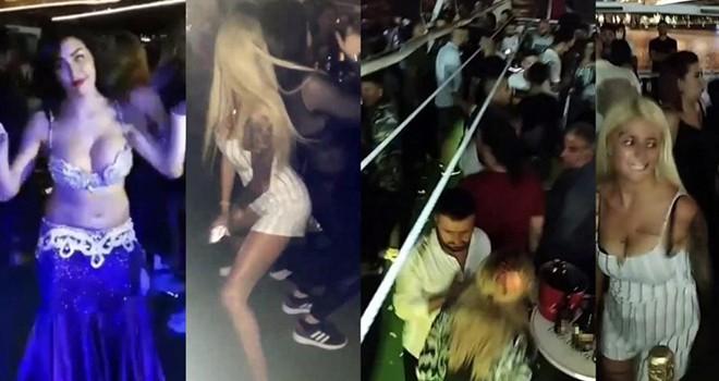Boğaz'da dansözlü yat partisinde Corona unutuldu