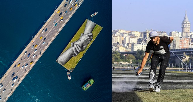 Saype'den İstanbul'da üç dev çizim
