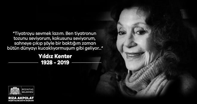 Yıldız Kenter Beşiktaş'tan son yolculuğuna uğurlanacak