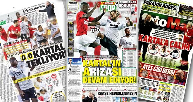 Beşiktaş'ın berabere kalması gazete manşetlerine bomba gibi düştü!