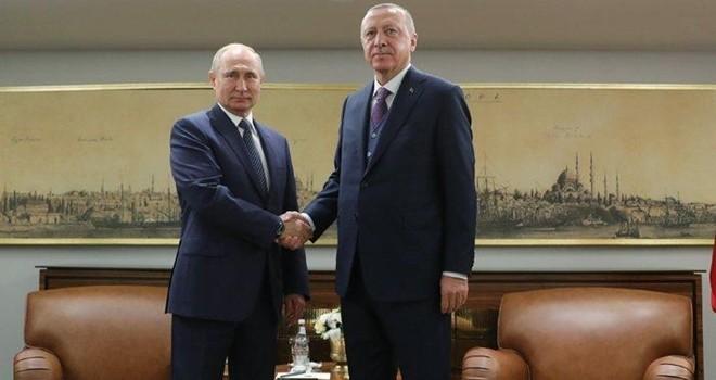 Cumhurbaşkanı Erdoğan ile Putin buluştu