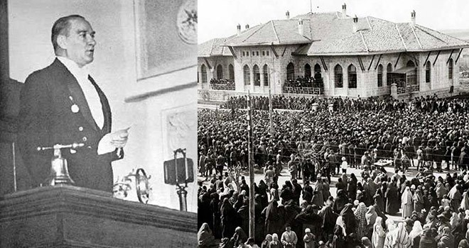 Atatürk'ün meclisteki tarihi ilk konuşması