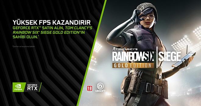 Mega-Hit Tom Clancy's Rainbow Six Siege GeForce RTX GPU'larıyla birlikte geliyor