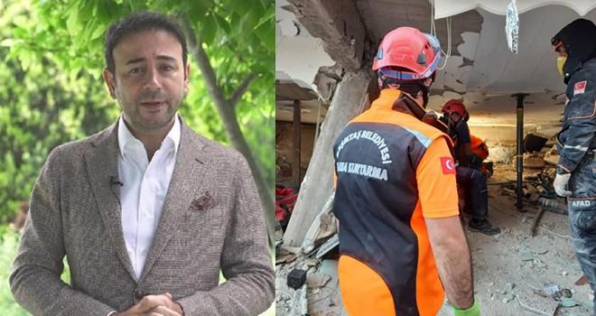 Beşiktaş'tan yola çıkan arama kurtarma ekibi İzmir'de can kurtarıyor!