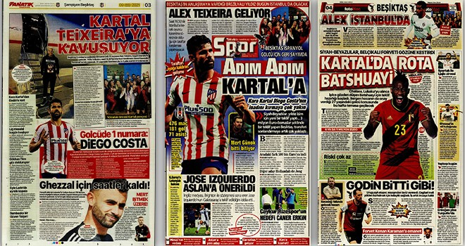 Beşiktaş manşetleri (9 Ağustos)