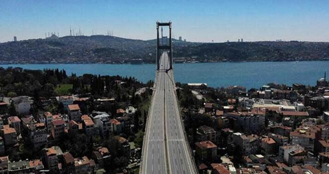 Sokağa çıkma yasağında İstanbul havadan görüntülendi