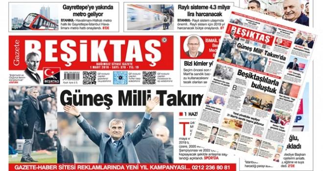 Gazete Beşiktaş Mart sayısı seçim, spor, kültür sanat haberleriyle çıktı