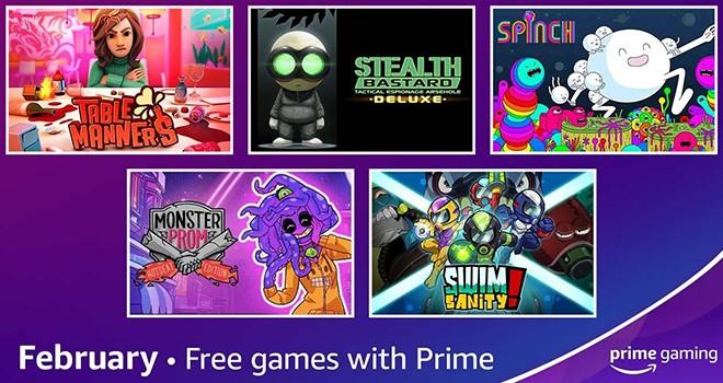 Prime Gaming'de Şubat ayının ücretsiz oyunları açıklandı