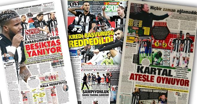 Beşiktaş'ın yenilgisi gazete manşetlerinde