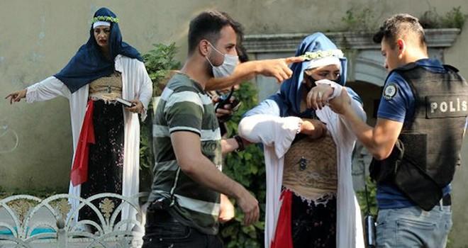 Dolmabahçe'deki şüpheli kadın gözaltına alında