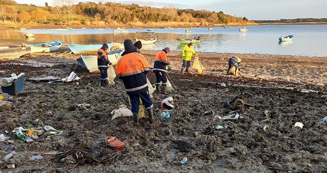 İstanbul'daki baraj havzalarından 40 ton atık çıktı