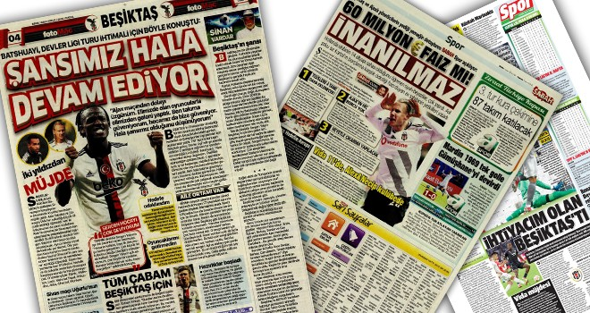 Beşiktaş manşetleri (1 Ekim)