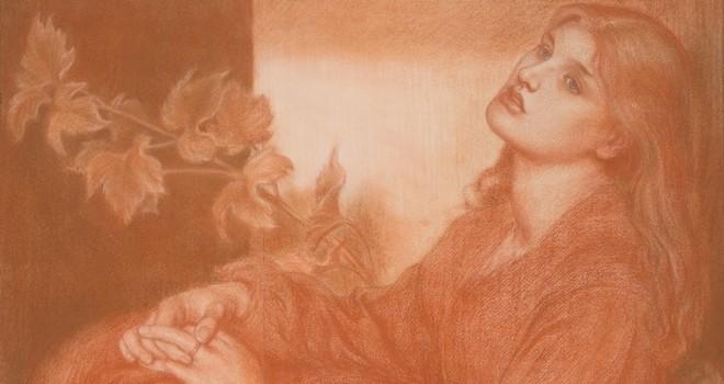 Rossetti'nin kitapçıda bulunan çizimi sergileniyor