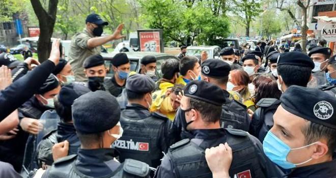 Beşiktaş'ta eylemcilere polis müdahale etti