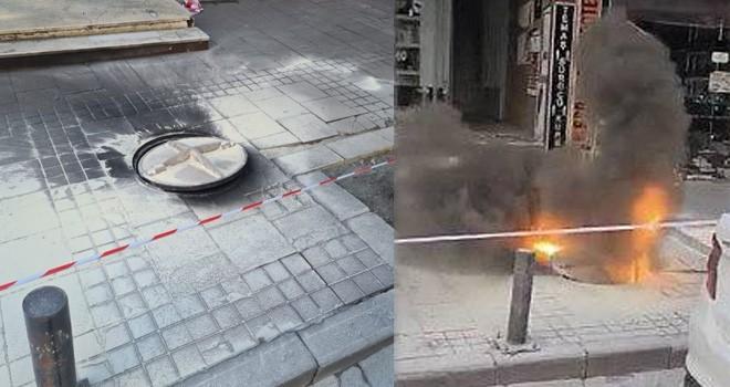 Beşiktaş'da yeraltı kabloları patladı