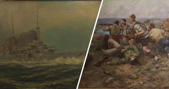 Çanakkale Savaşı'nı anlatan eserler Resim Müzesi'nde sergileniyor