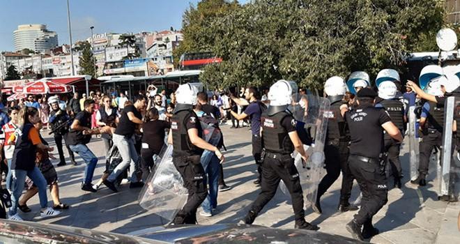 Beşiktaş'taki eylemde 23 gözaltı