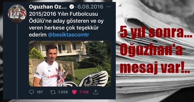 Oğuzhan'a Beşiktaş Medya Grup Twitinin üzerinden mesaj