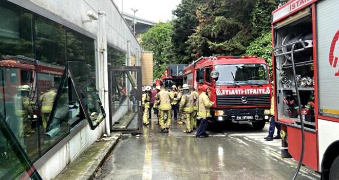 Ortaköy'de ofiste çıkan yangın korkuttu