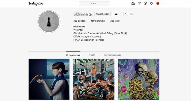 Sosyal sanat galerisinin öncü ismi: @yildirimarte