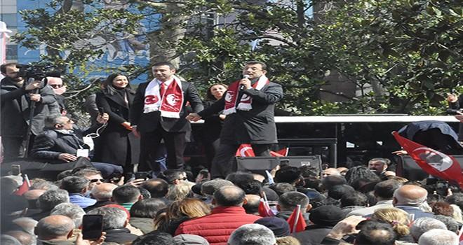 CHP'nin Beşiktaş'ta coşkulu final mitingi