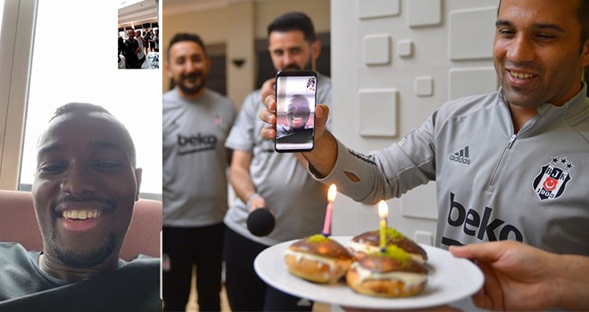 Beşiktaş'ta online doğum günü kutlaması