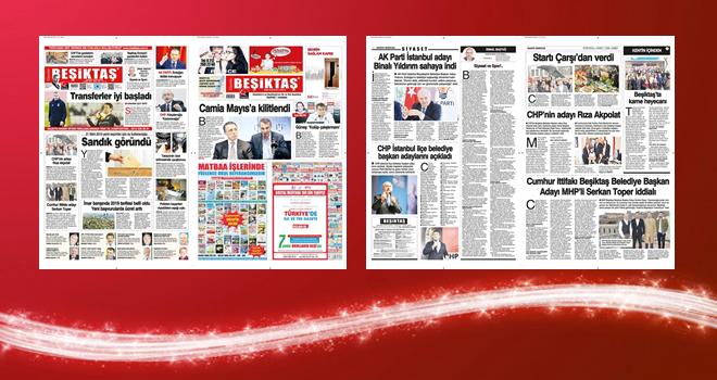 19.Yıl... Seçim haberlerini ve başkan adaylarını Gazete Beşiktaş'tan okuyun