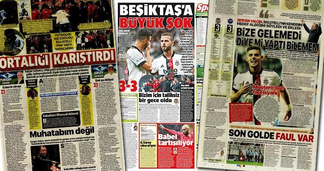 Manşetlerle Beşiktaş - Adana Demirspor maçı (22 Eylül)