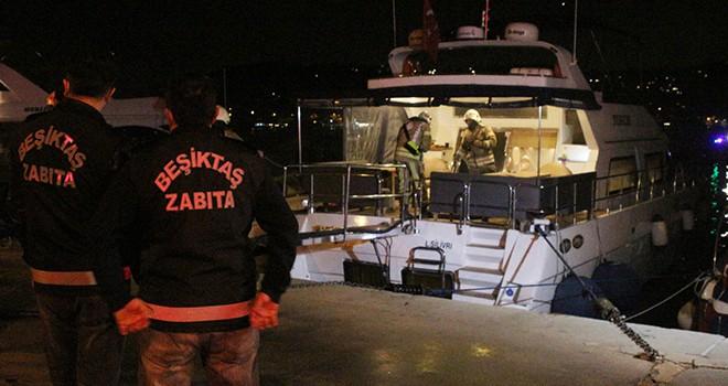 Bebek Sahili'nde teknede yangın çıktı