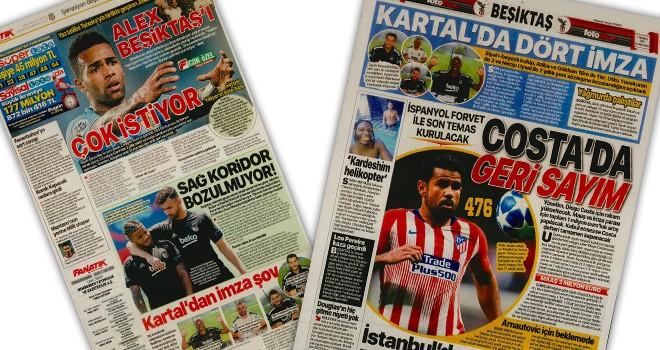 Beşiktaş manşetleri (7 Temmuz)