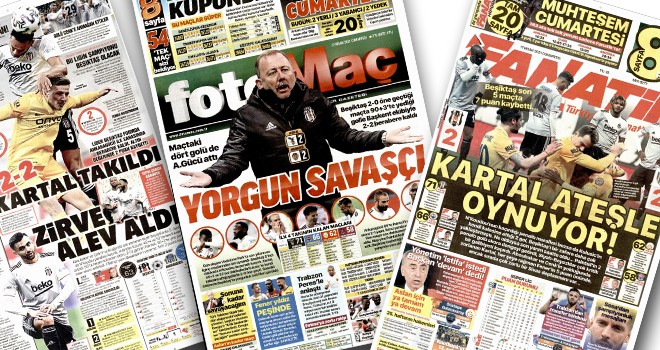 Beşiktaş'ın berabere kalması manşetlere taşındı!