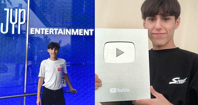 Türkiye'nin K-Pop dansçısı Selçuk Hoş'a YouTube'dan plaket