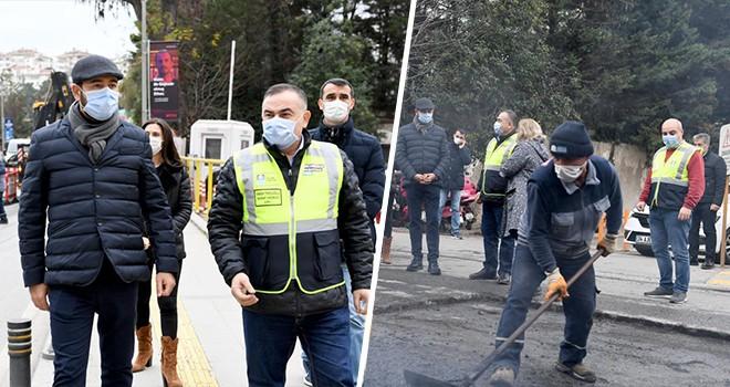 Beşiktaş'ta 3 bin 167 ton asfalt serimi yapıldı