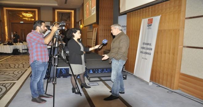 CHP Basın toplantısında canlı yayına katıldık