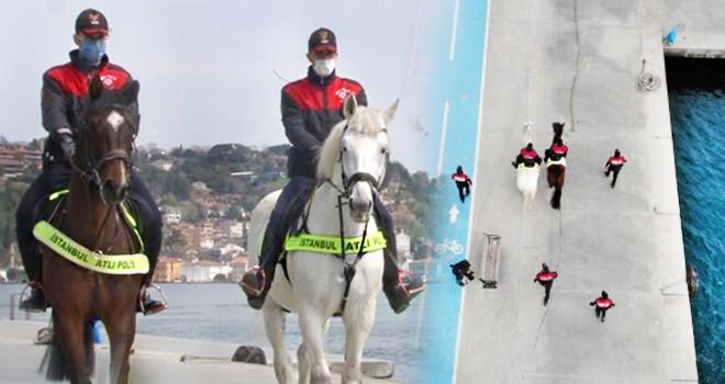 Atlı polislerden Bebek Sahili'nde denetim